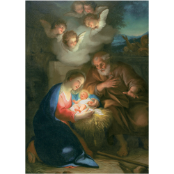 Christmas Cards - The Holy Night (Mengs)
