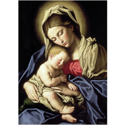 Christmas Cards - Virgin and Child (Il Sassoferrato)